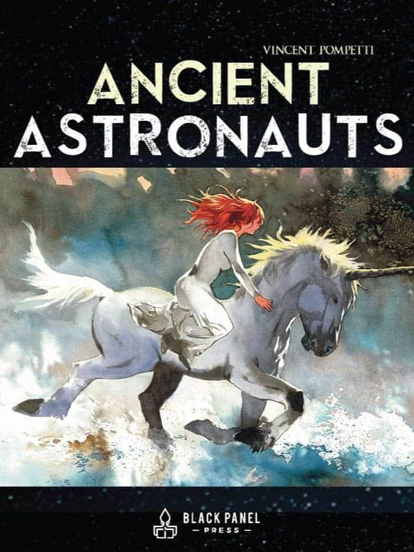 Ancient Astronauts Scifi Watercolor Space Adventure